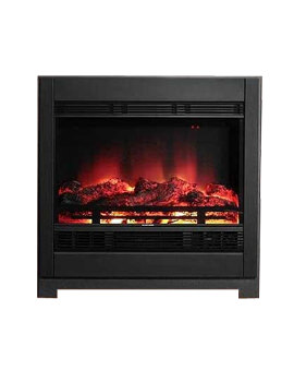 Be Modern Serena Outset Remote Control Electric Fire Black - 92533
