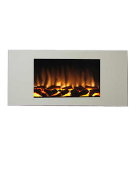 Marino XL Remote Control Wall Mounted Cream Stone Finish Electric Fire