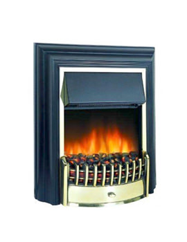 Image of Dimplex Cheriton Remote Control LE Electric Fire Black-Brass | CHT20LE