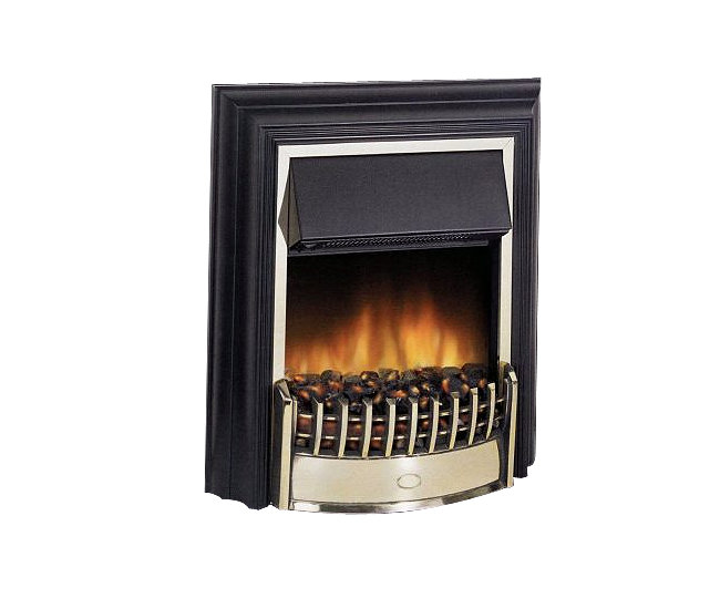 Large Image of Dimplex Cheriton Remote Control LE Electric Fire Black-Brass | CHT20LE