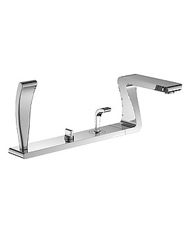 ZD Series 4 Hole Deck Mounted Bath Shower Mixer Tap - ZD022