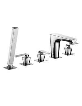 XR Series 5 Hole Deck Mounted Bath Shower Mixer Tap - XR022