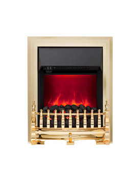 Be Modern Camberley Manual Control Inset Electric Fire Brass - 59277