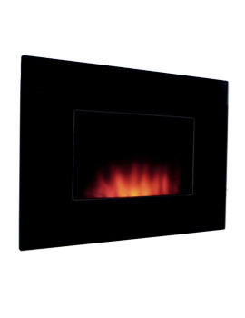 Dante Flat Wall Mounted Remote Control Electric Fire - 70203