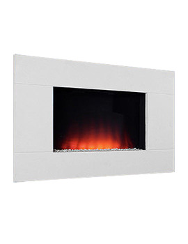 Dante Wall Mounted Remote Control Electric Fire Limestone - 70173