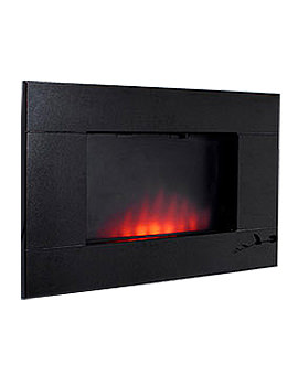 Dante Wall Mounted Remote Control Electric Fire Black Granite - 54593