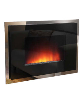 Dante Double Glass Wall Mounted Electric Fire - 70165