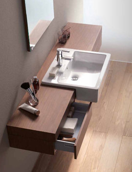 Image of Fogo Console With Drawer For Semi Recessed Washbasin 1600mm FO8385