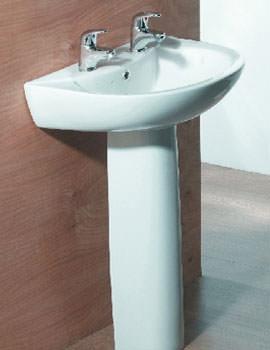 Aqva Concord Wash Basin and Pedestal - STREAMLINE-FAIRLINE