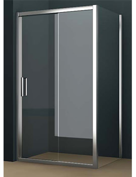 Oxygen 8 Straight Sliding Shower Door 1000mm - SE1S10
