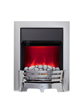 Mayfair Manual Control LED Inset Electric Fire Chrome-Pebble - 59366