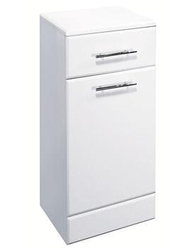 Lauren High Gloss White Laundry Basket 350 x 330mm - VTY006