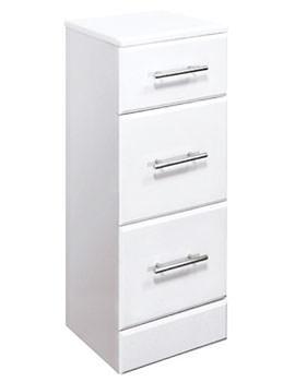 Lauren High Gloss White 3 Drawer Unit 350 x 300mm - VTY025