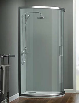 Oxygen 8 Single Sliding Door Bow Fronted Quadrant 1000x1000mm