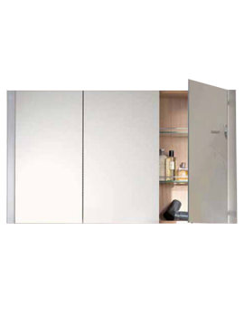 Image of Duravit X-Large Mirror Cabinet 180x1200mm Teak | XL 7096