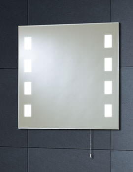 Back Lit Mirror 600mm x 600mm With Pull Cord - MI007