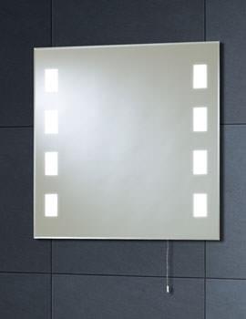 Back Lit Mirror 600mm x 600mm With Pull Cord - MI007