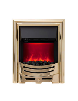 Be Modern Signum Manual Control LED Inset Electric Fire Brass - 59420