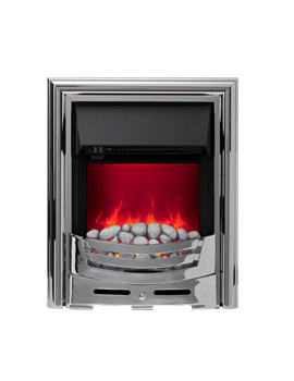 Signum Manual Control LED Inset Electric Fire Chrome-Pebble - 59447