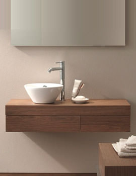 Image of Duravit Fogo Console Including Drawer 360 x 1200mm Macassar - FO837702424