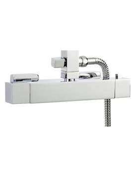 Square Exposed Thermostatic Shower Bar Valve