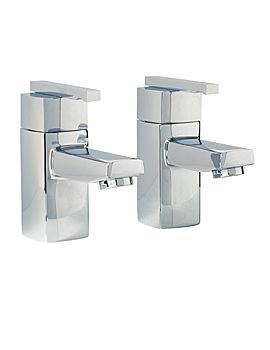 Phoenix SQ Series Pair Of Bath Tap Chrome - SQ003
