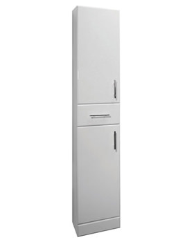 Lauren High Gloss White Tallboy Unit 350mm x 330mm - VTY003