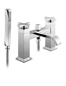 Phoenix DC Series Deck Mounted Bath Shower Mixer Tap With Shower Kit