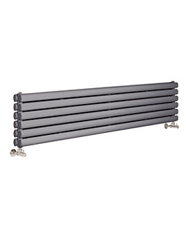 Revive 1500 x 354mm Anthracite Double Panel Horizontal Radiator