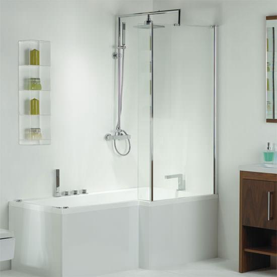 phoenix pensato whirlpool shower bath with panel 1700mm