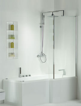 Phoenix Pensato Left Hand Shower Bath With Panel 1700 x 850mm