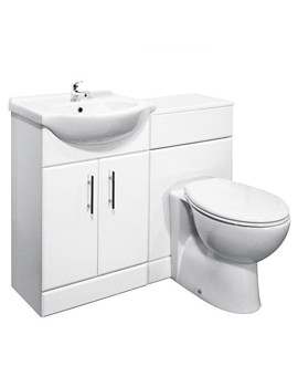 Lauren Basin Vanity Unit 550mm And BTW Unit With WC 1050mm