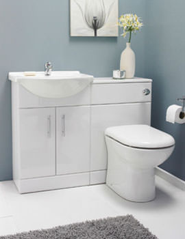 Lauren Bathroom Vanity Unit With Back To Wall Unit And WC 1050mm