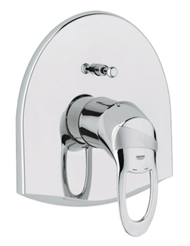 Chiara Single Lever Bath Shower Mixer Trim With Rapido E