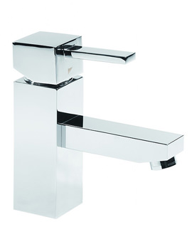 Roper Rhodes Factor Square Basin Mixer Tap With Click Waste - T131102