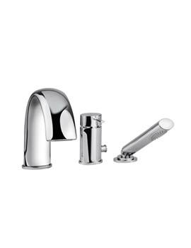 Tre Mercati Bella 3 Hole Bath Shower Mixer Tap With Shower Kit - 42060