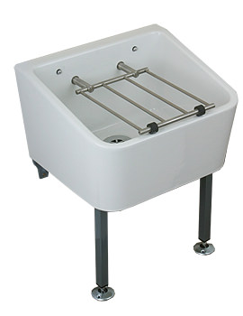 Cleaners 465 x 400mm Sink With Grating - FC1034WH