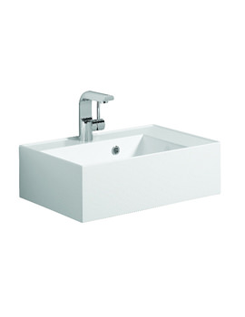 Bauhaus Elite White Gloss White Cast Mineral Resin Basin - EL0001SRW