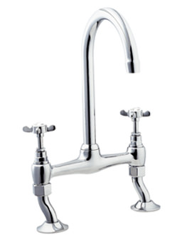 Coronation Bridge Sink Mixer Tap Chrome