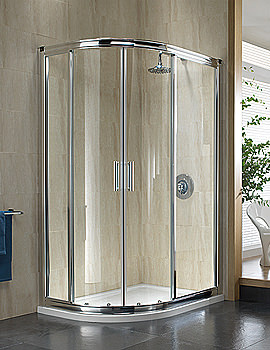 Image of Twyford Hydr8 Offset Quadrant Shower Enclosure 1200 x 800mm - H88000CP