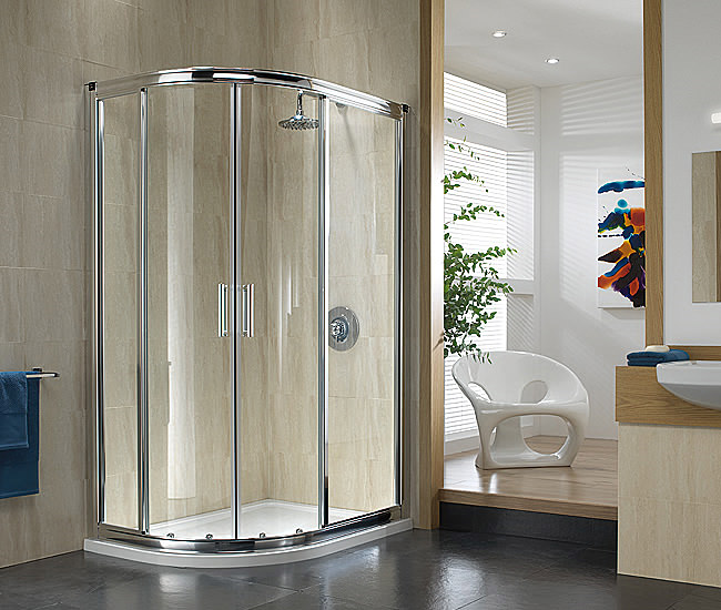 Large Image of Twyford Hydr8 Offset Quadrant Shower Enclosure 1200 x 800mm