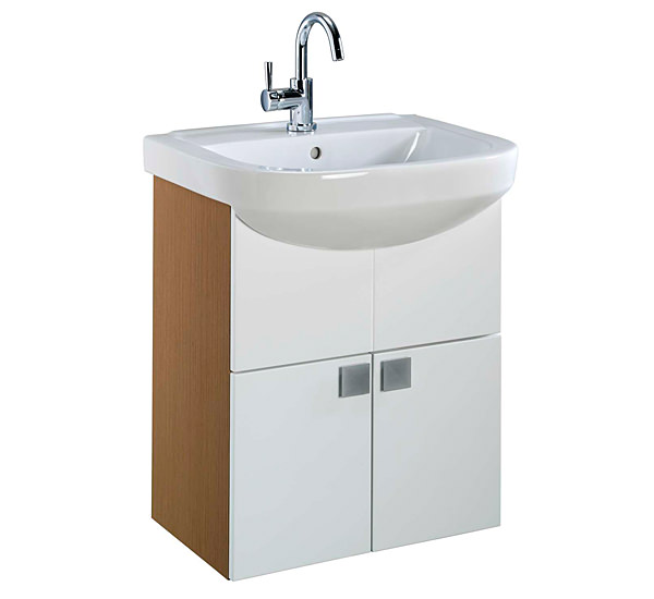 Twyford Refresh Square Washbasin And Furniture Set | RS0109WH