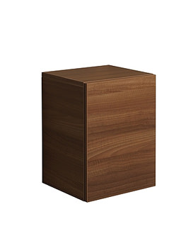 Bauhaus Elite Walnut Wall Hung Tower Storage Unit 480mm - EL3548FWT