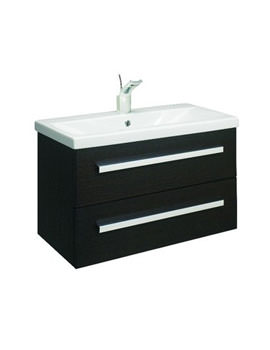 Bauhaus Glide Black Oak Wall Hung Basin Unit 780mm - GL8000BO