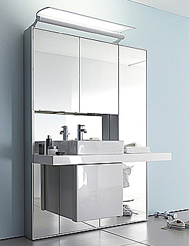 Duravit Mirrorwall Unit 1332mm With Vero Basin 595mm - MW982601313