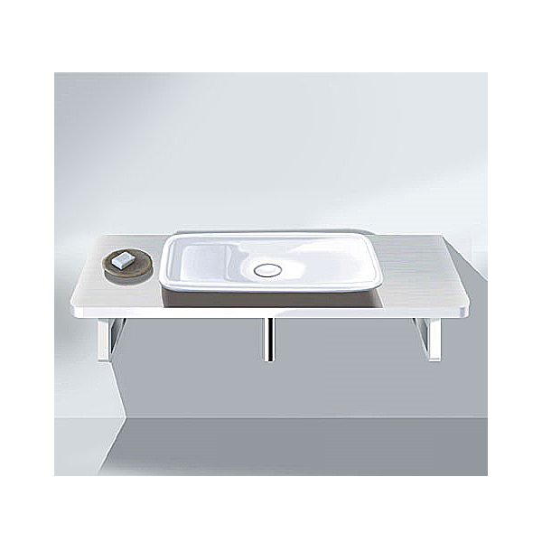 Large Image of Duravit PuraVida Basin 700mm On Console 1500mm - PV070CX8585