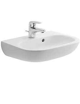 Duravit D-Code Handrise Basin With Overflow 450mm - 07054500002
