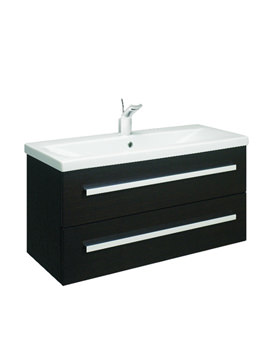 Bauhaus Glide Black Oak Wall Hung Basin Unit 980mm - GL1000BO