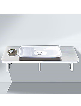 Image of Duravit PuraVida Basin 700mm On Console 1800mm - PV070CZ8585