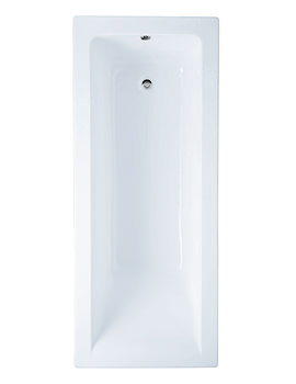 RAK Metropolitan 1700 x 700mm Single Ended Easyflow Acrylic Bath